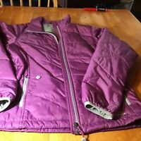 L L Bean  women's Med plum quilted jacket Petit Coat