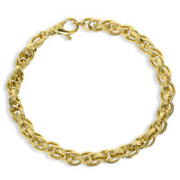 9CT GOLD ROPE BRACELET ENGRAVED POW CHAIN LEVER CATCH GIFT BOXED