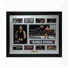 Roman Reigns WWE Signed & Framed Memorabilia - Silver/Black Limited Edition