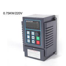 220V 0,75kW Frequenzumrichter Variable Frequenz Drive VFD Drehzahlregler 1-Phase