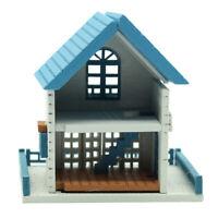 1:12 Puppenhaus Miniatur DIY  Geschenk Für Romantische KunstwerkVilla Blau