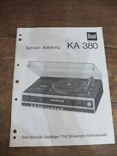 Dual KA 380 Service Manual TOP !!! Reinschauen !!!