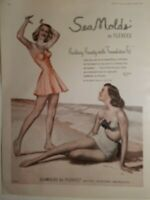 1949 women's Seamolds by Flexees swimsuit vintage fashion ad