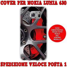 Cover case custodia protettiva in tpu per Nokia Lumia 630 fant DISCO FRENI ROSSI