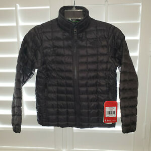 $120 NEW Boys S The North Face Thermoball FZ Jacket Graphite Grey Green