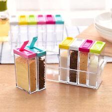 6ps Kitchen Seasoning Bottle Box Jar Condiment Storage Container Rack Herb Spice