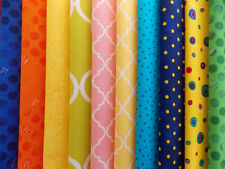 "Assorted Brights Fabric 30 Piece Layer Cake 10"" Fabric Squares Premium Cotton"