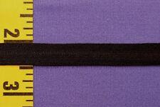 "Uniform Braid Trim Flat Textured Braid Trim Ribbon 3/8"" Black 10 yds #BG178"