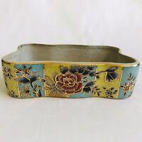 Japanese Porcelain Bonsai Flowers Pot Planter Ikebana Vase Antique Vintage