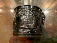 Vintage Silver Plated Tea Cup Holder Made  In Israel Free Shipping