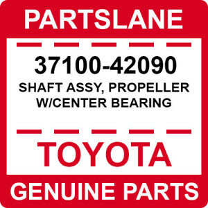 37100-42090 Toyota OEM Genuine SHAFT ASSY, PROPELLER W/CENTER BEARING