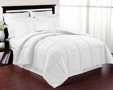 Newluxury Hypoallergenic Twin Size White Down Alternative Comforter Blanket
