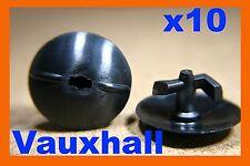 10 Vauxhall Opel bonnet hood lining panel plastic cover trim fastener clips