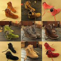 Womens Girls ladies Shoes High Top Ankle Boots Lace Up Casual Flat Large Size