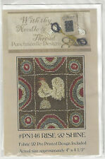 With thy Needle & Thread #PN146 Rise & Shine Rooster Punchneedle Kit.