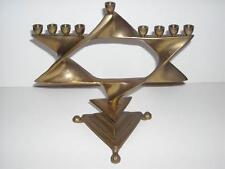 Brass? Star of David Hanukkah Menorah Jewish Judaism Sabbath Candle Holder