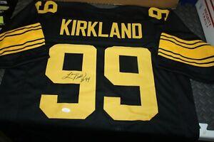 PITTSBURGH STEELERS LEVON KIRKLAND #99 SIGNED COLOR RUSH JERSEY JSA WITNESS