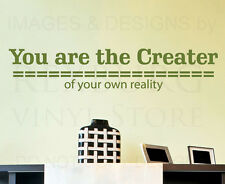 Wall Art Decal Sticker Quote Vinyl Removable Lettering Create Your Reality J39