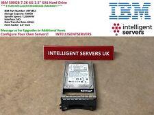 "IBM 500GB 7.2K 6G 2.5"" SAS Hard Drive  -  49Y1851"