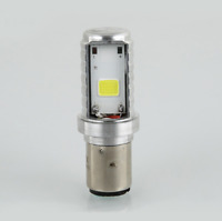 12W BA20D H6 2COB LED Coppia Di Lampade Per Motore Bici Fari Luce Lampadine ATV