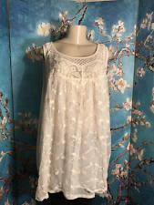 FRENCH LAUNDRY PLUS 3X NEW IVORY LACE EMBRODRIED LINED SLEEVELESS TUNIC TOP