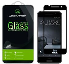 2x Dmax Armor for HTC One A9 Tempered Glass Full Cover Screen Protector Black
