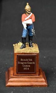 PAINTED BRITISH DRAGOON GUARDS 1854 by Tiny Troopers - 65mm Metal Figure on Base