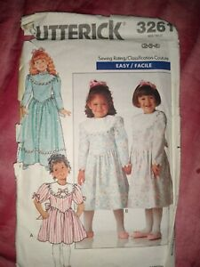 BUTTERICK DRESS SEWING PATTERN AGES 2-4 FROM 1989 (3261)