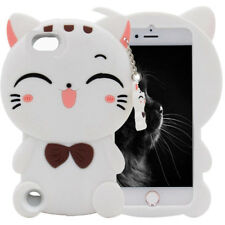 3D Cartoon Soft Silicone Rubber Kids Case Cover For iPhone iPod Touch 6th iPhone