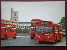 POSTCARD LONDON TRANSPORT SMS BUS ON ROUTE 85 ON PUTNEY BRIDGE
