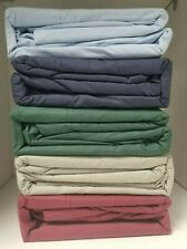 50/50 Poly Cotton Percale Waterbed Sheet set with poles - Light Blue - all sizes