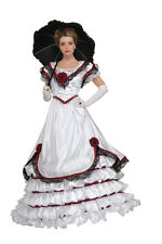 Grand Heritage White SOUTHERN BELLE Costume Top + Skirt w/ Hoop Small 6 7 8 9 10