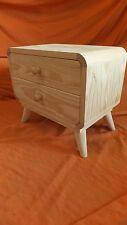 Mueble con 2 cajones + soporte, estilo retro tv. Madera maciza