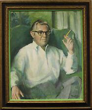 Gentleman's Portrait Original Oil on Canvas by Marcos Blahove