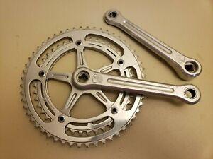 Vintage Campagnolo Strada Record Bicycle Crankset..Double...52 - 43t...170mm