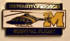 University Of Michigan Survival Flight Helicopter Pin MI College Collectible