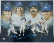 Ron Cey Steve Garvey Bill Russell Davey Lopes Auto 16x20 Photo Dodgers Infield