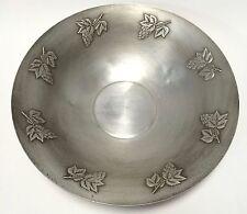 Vintage West Bend Aluminum Large Centerpiece Serving Bowl Grapes Leaves