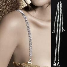 Decorative Diamante Crystal Bra Straps Adjustable Double Two Rows Wedding Party