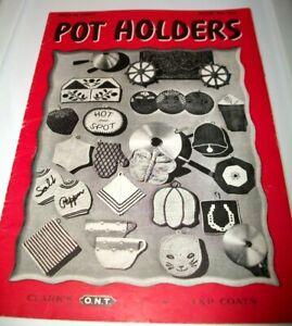 VINTAGE PATTERN LEAFLET BOOK 1943 COATS CLARKS CROCHET POTHOLDERS #196