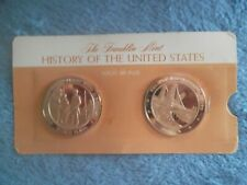 Franklin Mint-History Of The Usa-2 Coins-New
