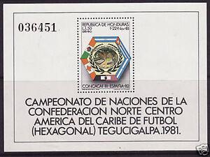 HONDURAS. 1981. World Cup Football Miniature Sheet. SG; MS1002 Mint Never Hinged