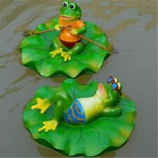Outdoor Frog Statue Floating Decor Garden Ornaments Pond Pool Lawn Sculpture NEW