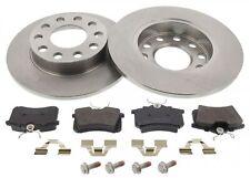 For Audi A4 8E2 8E5 B6 German Quality Pair Of Rear Brake Discs Pads Set 245mm