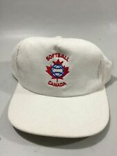 Vintage Trucker Snapback Farm Hat Softball Canada Corduroy