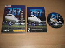 757 CAPTAIN ✈️ ✈️ Pc DVD Rom Add-On Flight Simulator Sim X or 2004 FS2004 FSX FS