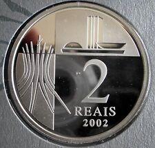 Brasilien Brazil  Silber 2 REAIS 2002 PP
