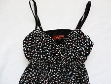 new NEXT BNWT ladies strappy black print summer/party chiffon dress size 6/8