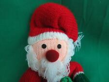 MERRY CHRISTMAS SOCK MONKEY SANTA CLAUS HANGING ORNAMENT KNIT PLUSH STUFFED TOY