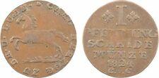 Allemagne, 1 pfennig, Brunswick-Wolfenbüttel, 1824 CVC, cuivre - 8